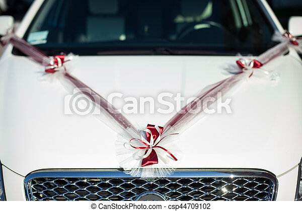 The decorations for wedding car - csp44709102