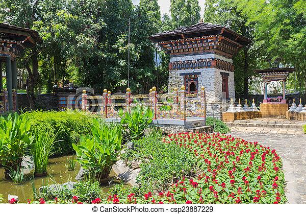 The Design Of Bhutan Bridge And Building   Csp23887229