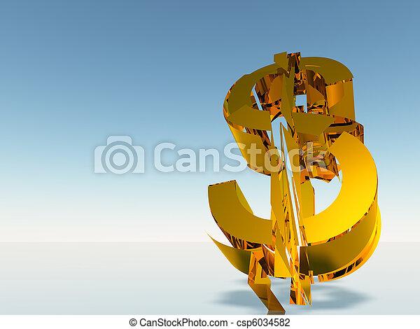 The destroyed dollar - csp6034582