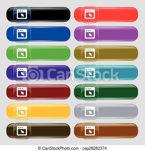 the dialog box icon sign. Big set of 16 colorful modern buttons for your design. Vector - csp28282374