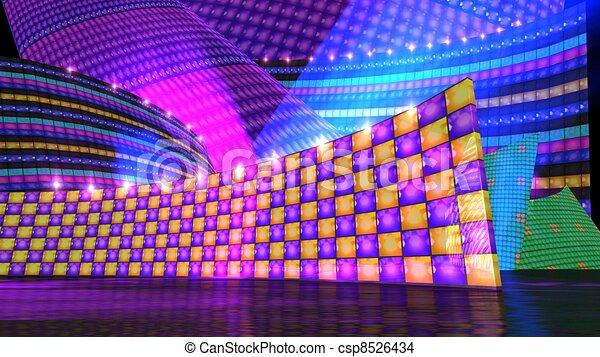The disco stage set checker c - csp8526434