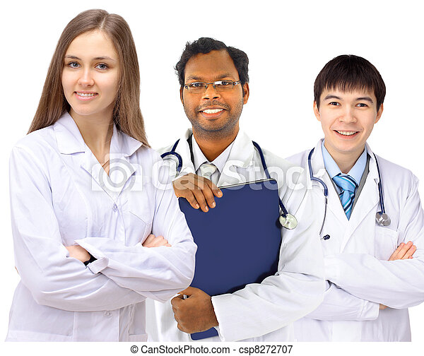 The doctor and interns - csp8272707