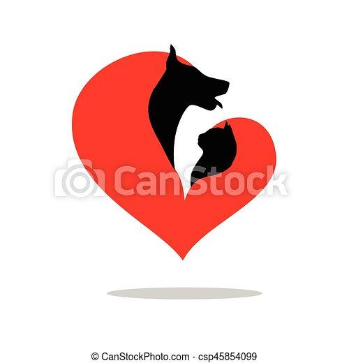the dog cat - csp45854099