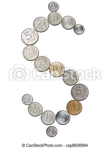 The Dollar-Ruble - csp8608994
