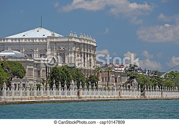 The Dolmabahce Ottoman Palace, Istanbul - Turkey - csp10147809