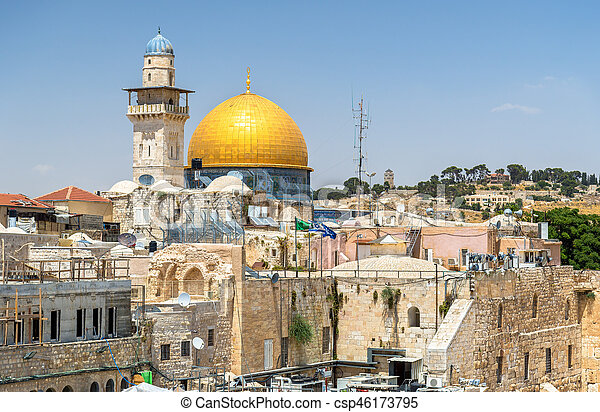 The Dome of the Rock in Jerusalem - csp46173795