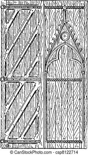 The Door Of Sainte Chapelle Vintage Engraving