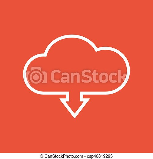 The download to cloud icon. Download symbol. Flat - csp40819295
