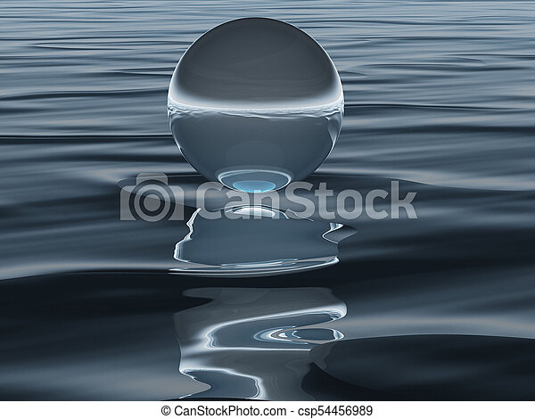 the drop and the sea - csp54456989