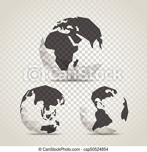 The Earth with abstract World map  Infographic template with the Earth on  transparent background