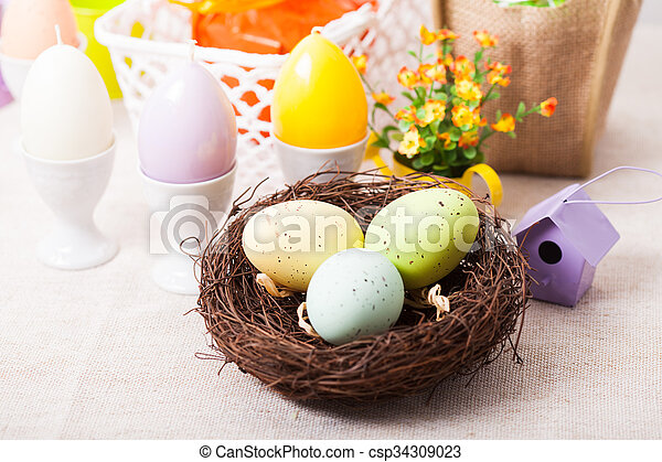 The Easter decorations - csp34309023