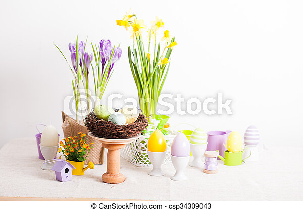 The Easter decorations - csp34309043