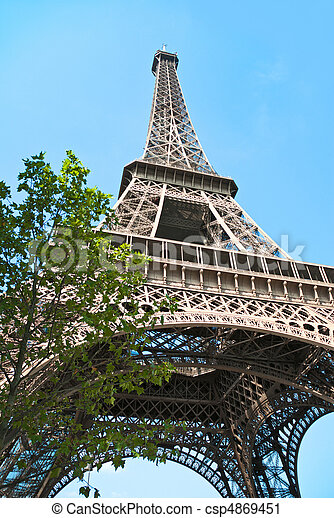 The Eiffel Tower, Paris - csp4869451