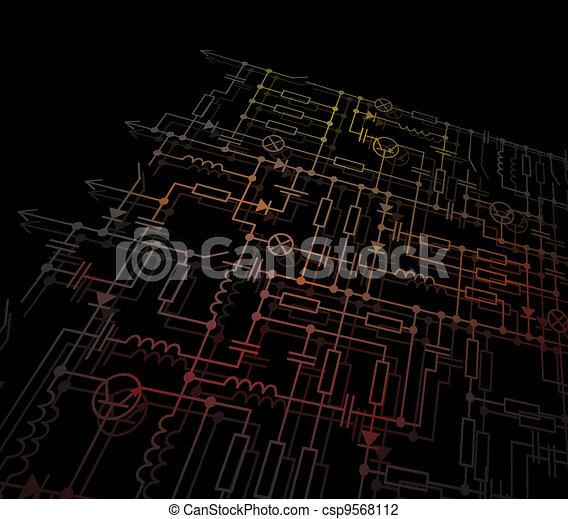 The electric scheme - csp9568112