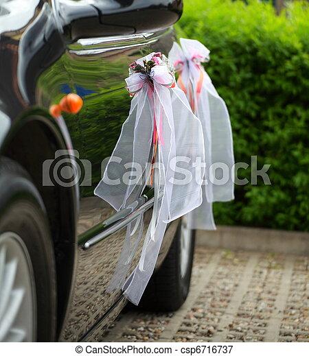 The elegant car for a wedding celebration - csp6716737