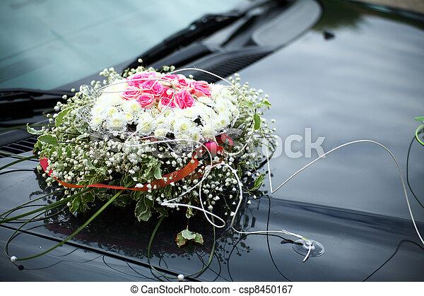 The elegant car for a wedding celebration - csp8450167