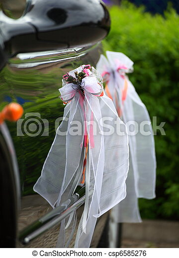 The elegant car for a wedding celebration - csp6585276