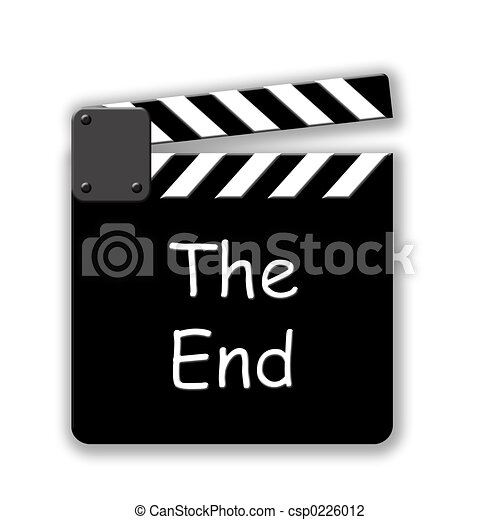 the end movie cut slate rh canstockphoto com clip art for the end the end is near clip art