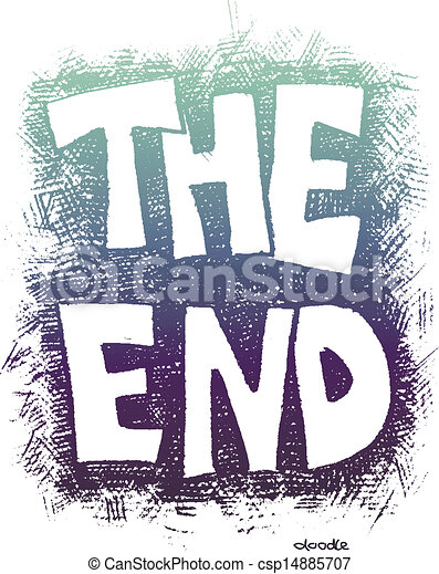 the end hand drawn vector eps8 rh canstockphoto com animated clip art the end the end sign clip art