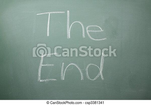 The End written on a blackboard - csp3381341