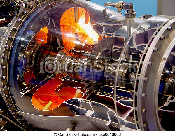 The engine of airplane - csp0818868