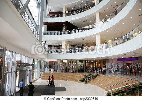 the entrance into the commercial center - csp2330519