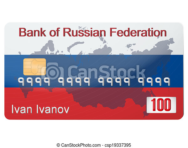 The example of russian banking credit card. the new system... eps ...