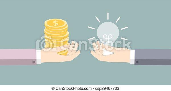 The exchange of ideas on the money - csp29487703