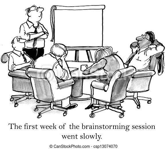 The executives cannot stay awake when brainstorming - csp13074070