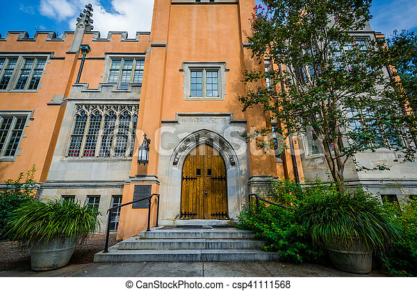 The exterior of Trinity Episcopal Cathedral, in Columbia, South Carolina. - csp41111568