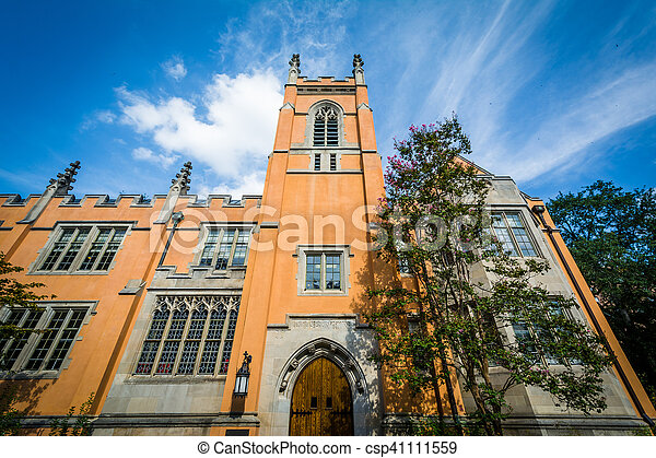 The exterior of Trinity Episcopal Cathedral, in Columbia, South Carolina. - csp41111559
