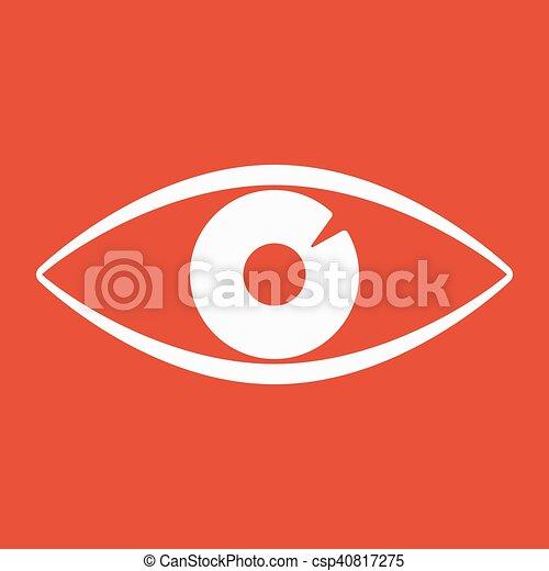 The Eye Icon Eye Symbol Flat Vector Illustration