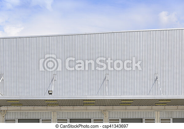 The factory building with the sky - csp41343697