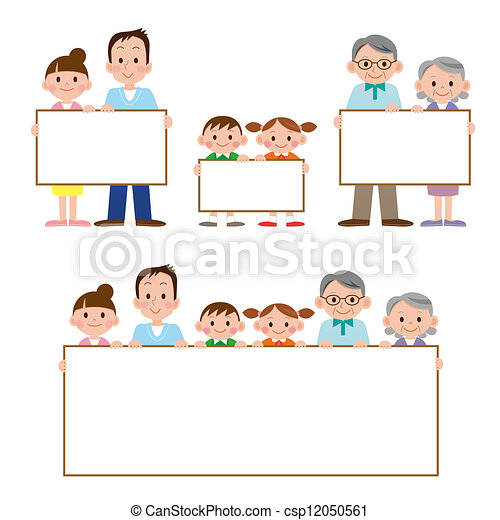 The family who has whiteboard - csp12050561