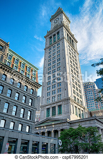 The famous Boston Custom House in the United States - csp67995201