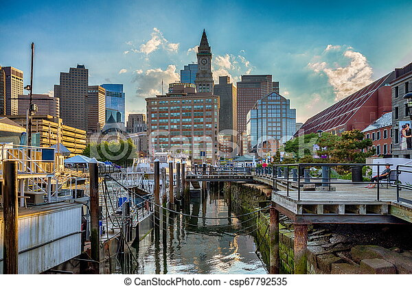 The famous Boston Custom House in the United States - csp67792535