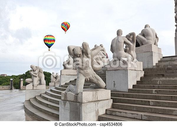 The famous rock sculpture park in Oslo - csp4534806
