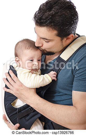 The father kiss and the baby - csp13926766