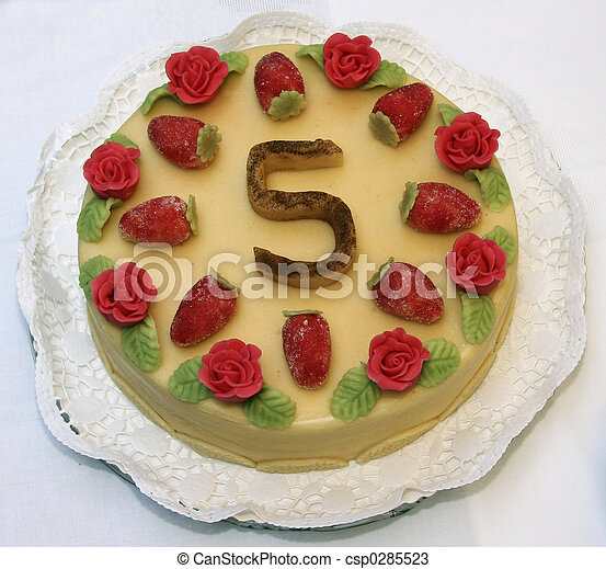 The fifth birthday cake - csp0285523
