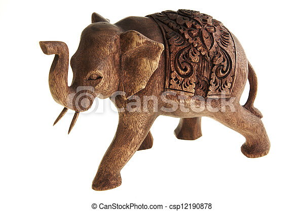 The figure of the elephant from a tree. - csp12190878