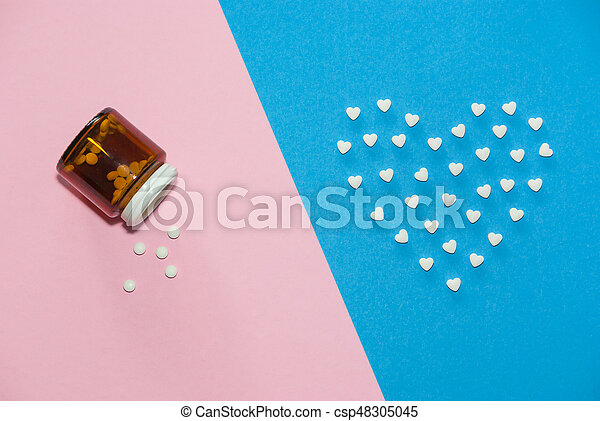 The figures of pills on the background - csp48305045