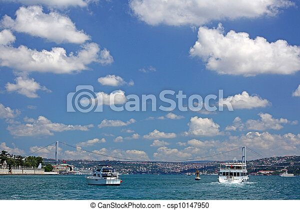 The First Bosporus Bridge connecting Europe and Asia (Turkey)  - csp10147950