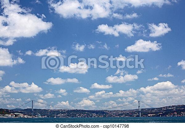 The First Bosporus Bridge connecting Europe and Asia (Turkey)  - csp10147798