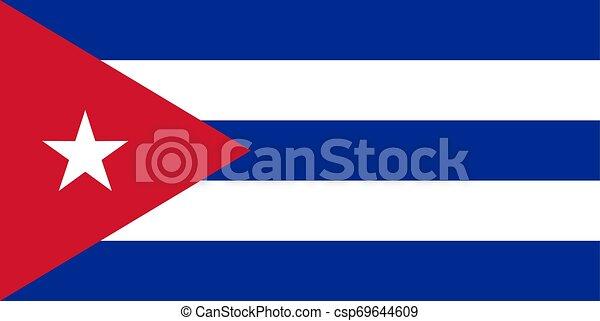 The flag of Cuba. Vector illustration. Havana. - csp69644609