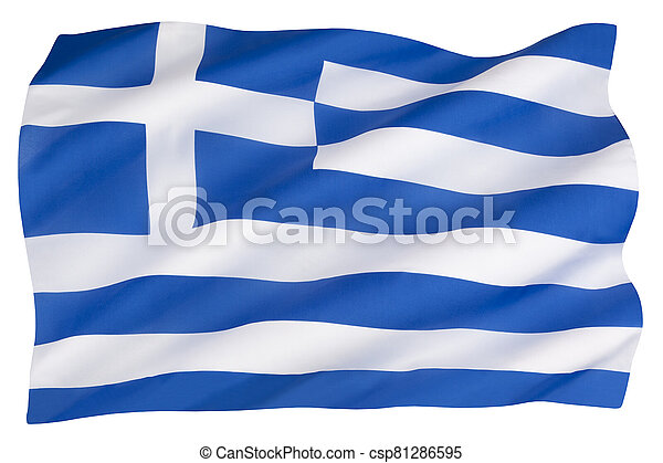 The flag of Greece - csp81286595