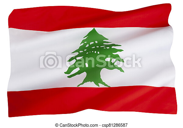 The flag of Lebanon - csp81286587