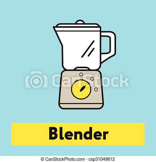 The flat icon of blender mixer silhouette on the blue background the flat icon of blender mixer silhouette on the blue background csp31049612 malvernweather Images