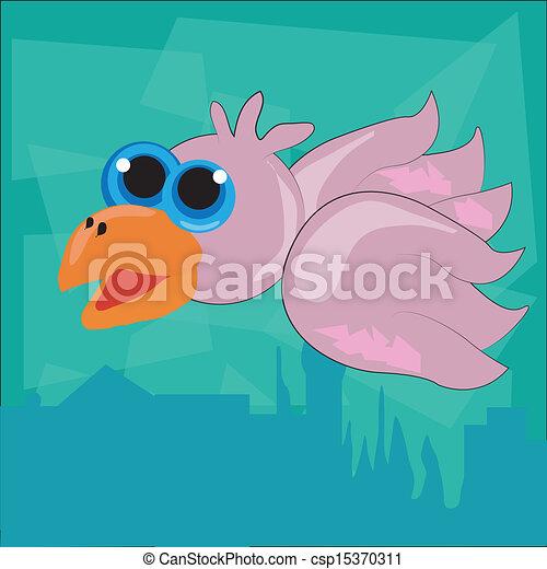 the flying pink bird - csp15370311