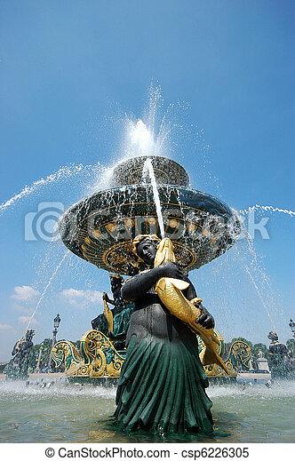 The fountain at Place de la Concord - csp6226305