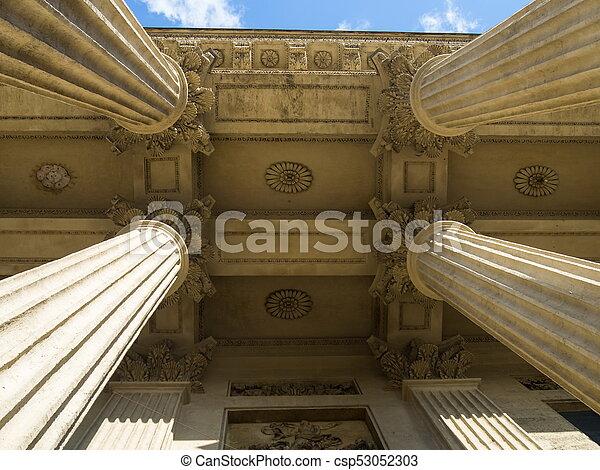 The four columns. - csp53052303